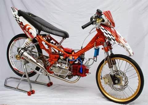 Foto - Foto Modifikasi Motor Bebek Honda , Suzuki Jadi Sport