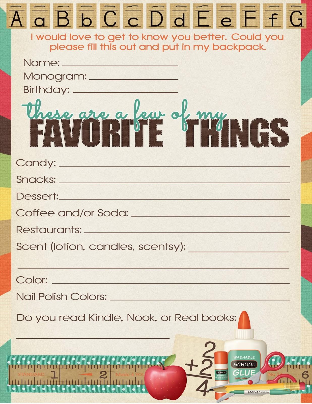 M K Designs Blog Teacher Questionnaire Teacher Appreciation