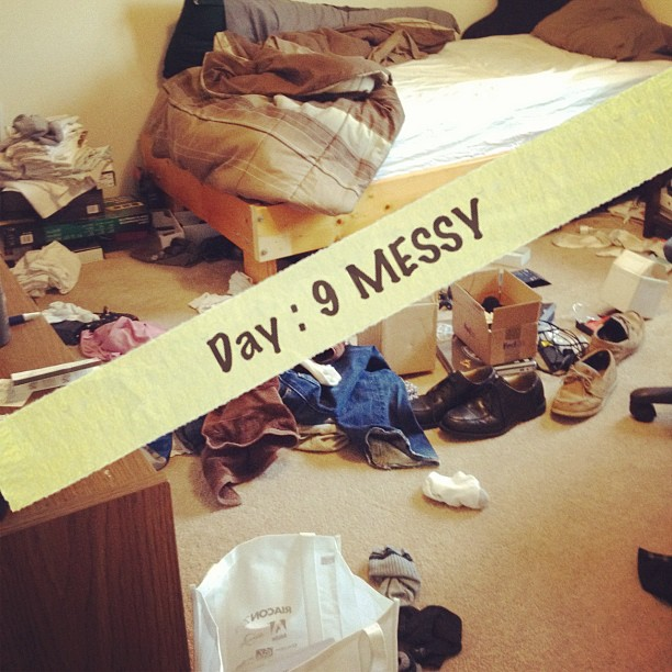 My son's messy room