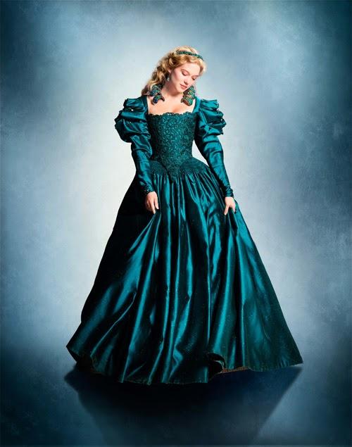 Figurino A Bela e Fera 2014, La Belle et la Bette vestido verde