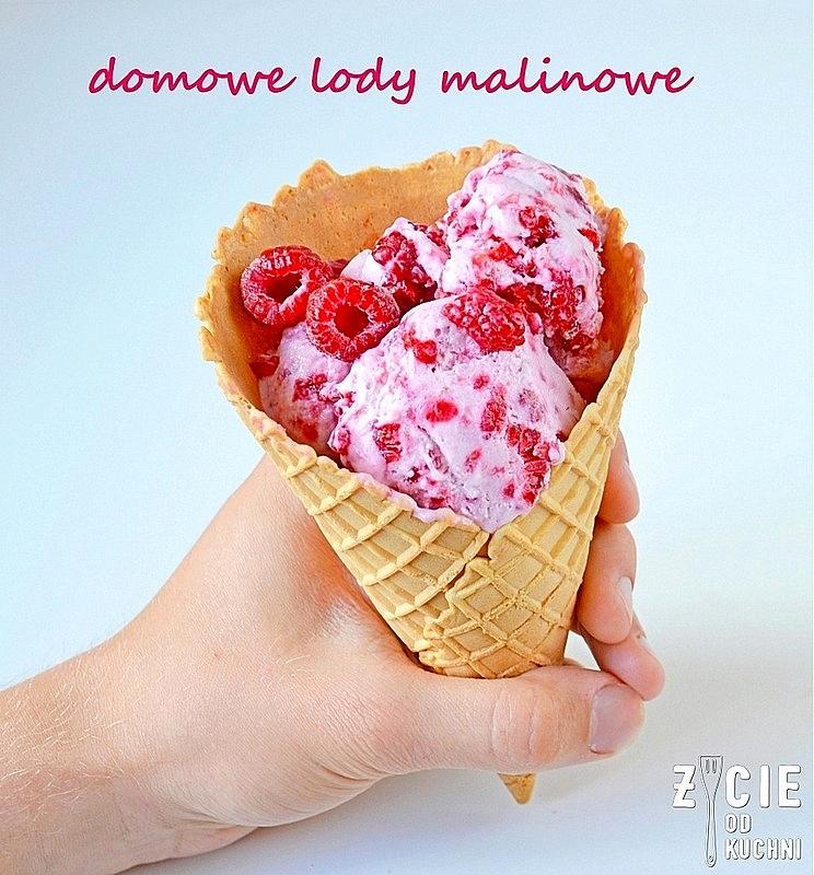 lody malinowe, domowe lody, jak zrobic lody, maliny poltino, poltino, mrozonki poltino, zycie od kuchni, lody czekoladowe