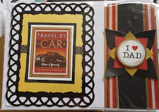 "Travel by Car - I heart DAD 7"" x 5"" tent fold card"