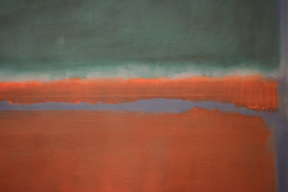 Green and Maroon detail (1953) by Mark Rothko