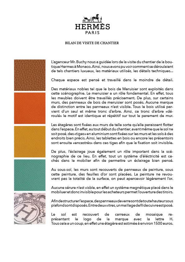 219 VISITE DE CHANTIER LA BOUTIQUE HERMES MONACO