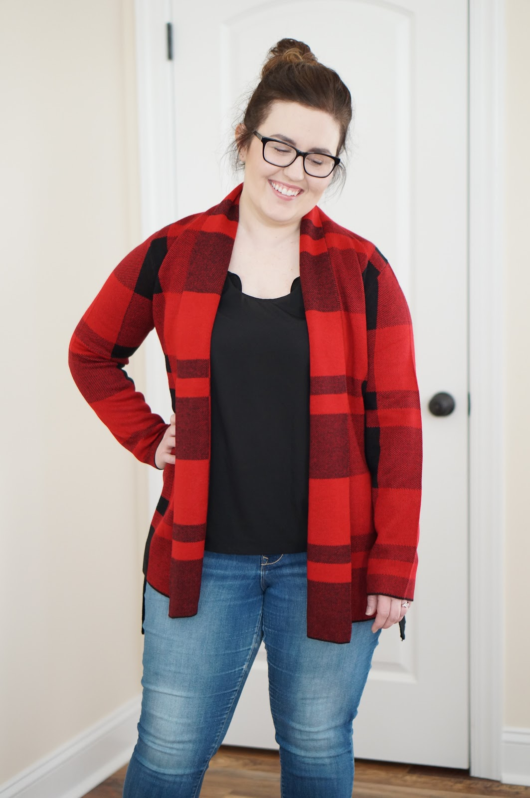 Rebecca Lately Stitch Fix Leo & Nicole Syd Open Cardigan