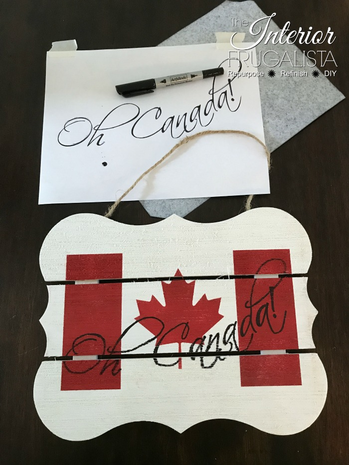 Easy Canada Day Sign with graphic