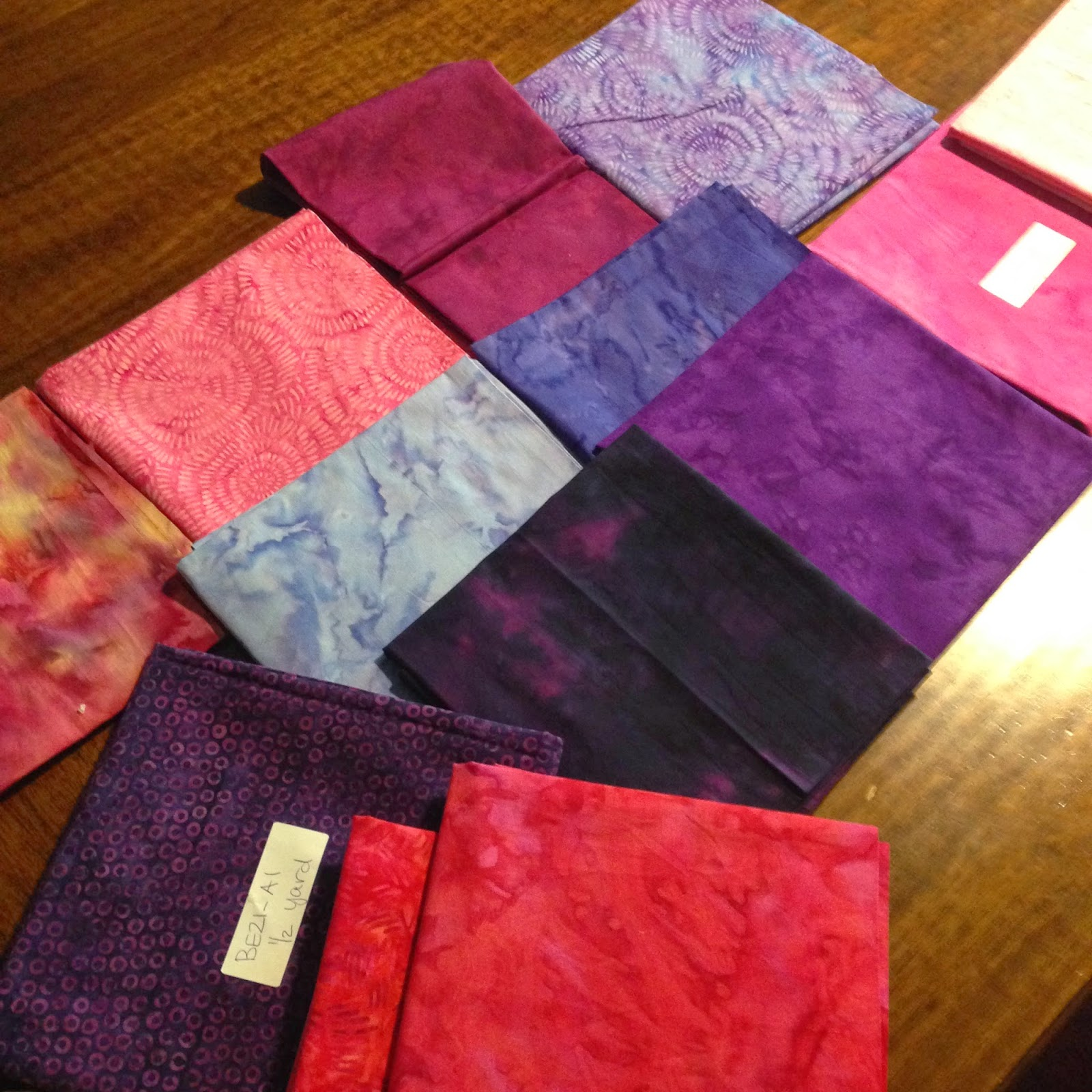 fabrics in butterfly quilt
