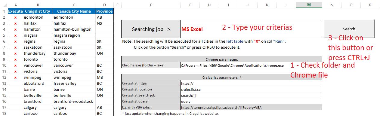 Ms Excel To Seek Jobs In Craigslist And Monster Website