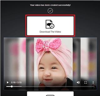 Gambar ilustrasi hasil pembuatan vidio di image to vidio