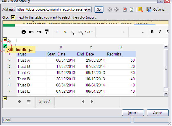 tech cogitation: Linking Google Sheet data to MS Excel and MS Access