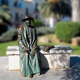 Escultura de Isidoro Macabich en Sa Carrosa (Dalt Vila, Ibiza), de Francisco López
