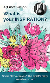 What is your inspiration, Sonia Nezvetaeva, peonies bouquet, 2019, pin me