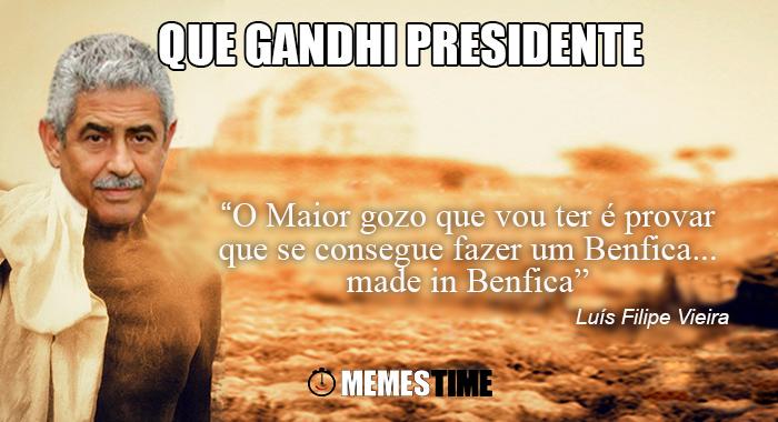 Memes Time - Luís Filipe Vieira, Presidente do Benfica em entrevista à TVI – Que Gandhi Presidente