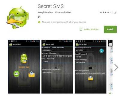 Aplikasi Pesan Rahasia dengan double Protection di Android