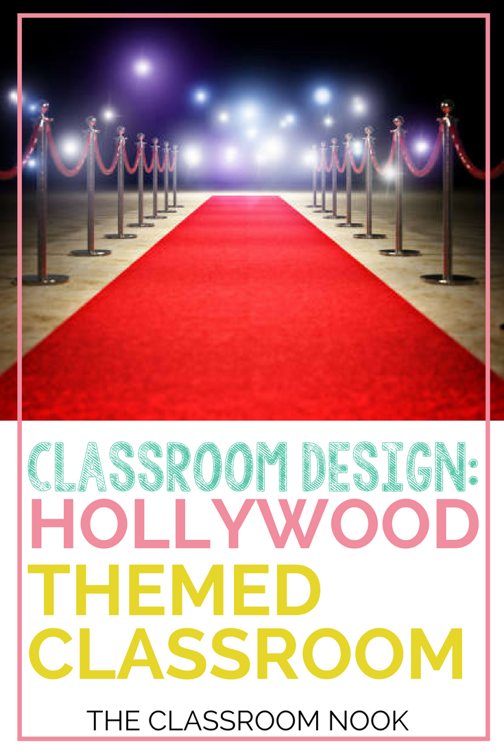 Create a Hollywood Themed classroom with these tips and ideas for Hollywood themed bulletin boards, Hollywood classroom accessories, and printable Hollywood decor!  #classroomdecor #classroomdesign #backtoschool #teacher #classroom #Hollywoodtheme