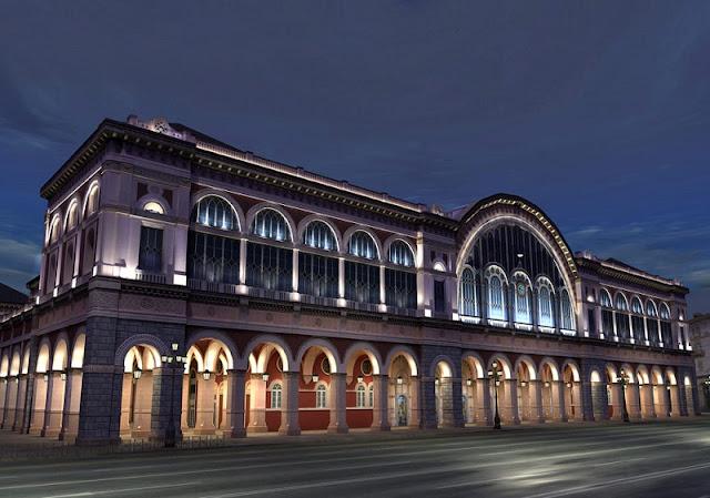 Estação de trem Porta Nuova em Turim