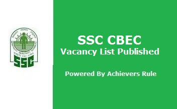 SSC CBEC State-wise Vacancy List Published