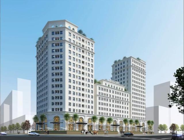 Phối cảnh tổng thể dự án Eco City Long Biên