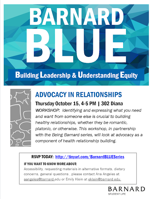 Advocacy In Relationships: A Barnard BLUE Workshop 1