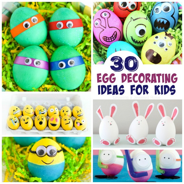 30 FUN WAYS TO DECORATE EASTER EGGS WITH KIDS. #eastereggdecorating #eastereggs #dyingeastereggs