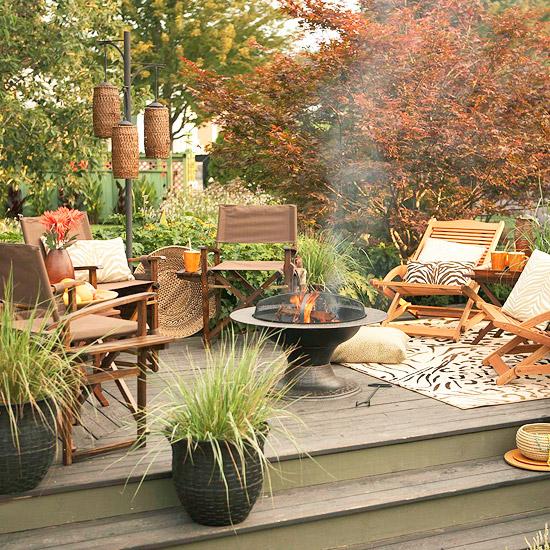Decked Garden Ideas: Deck Landscaping Ideas