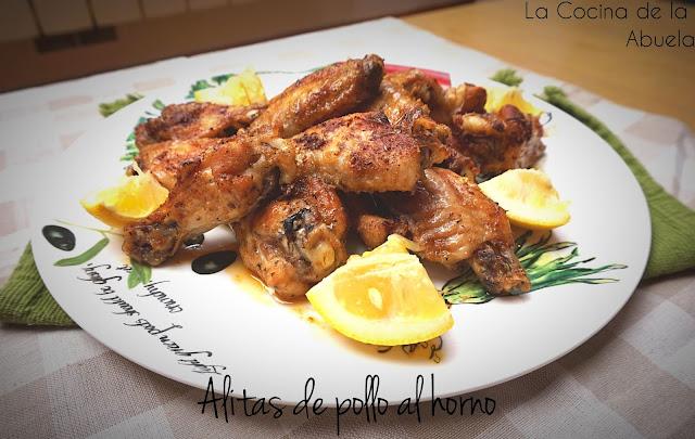 Alitas de pollo al horno, receta sencilla.
