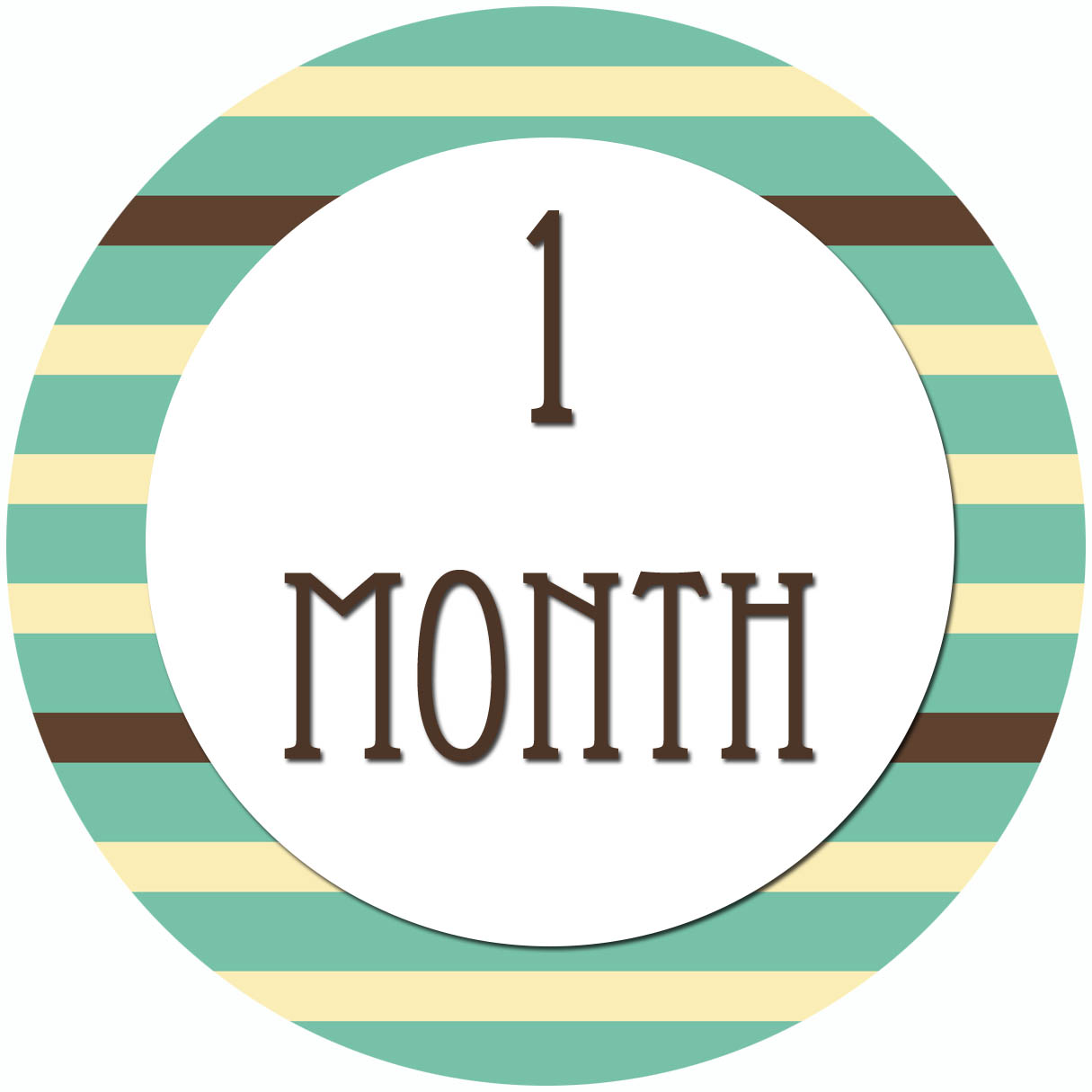 Excellent All Four Love Diy Month To Month Stickers Interior Design Ideas Lukepblogthenellocom