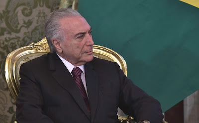 President of Brazil Michel Temer in the Kremlin.