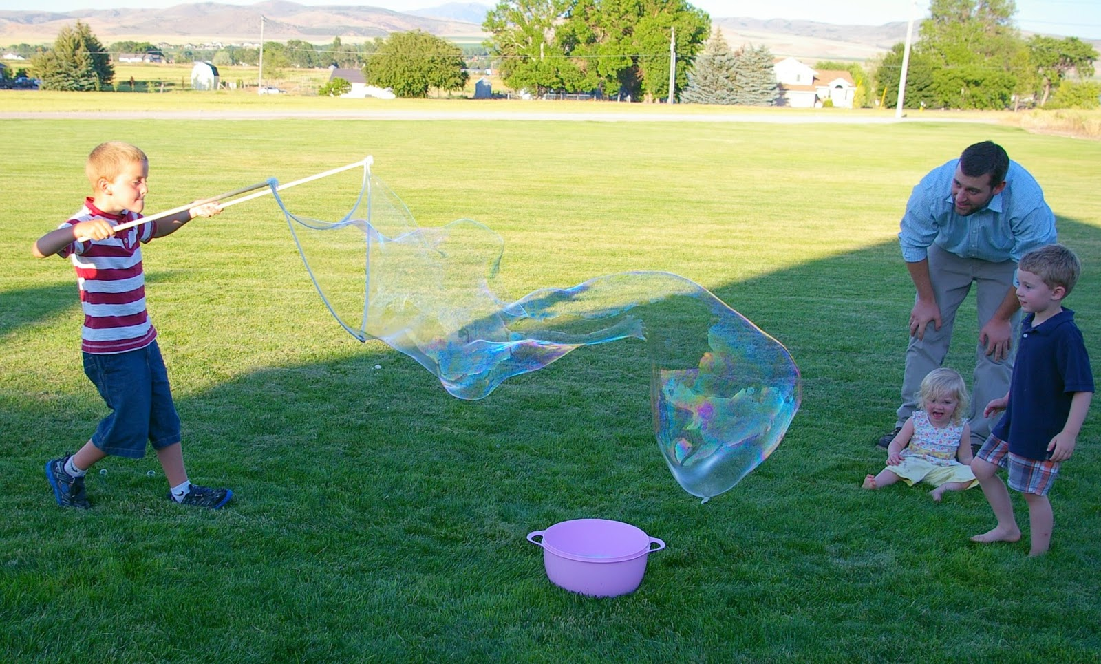 acc572f1b Emmy in her Element  Super Giant Bubbles- a super fun summer activity!