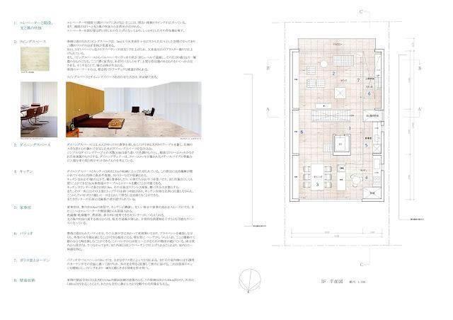 鈍い光沢を放つ金属板のなかに雲のような広がりを持つ家 平面計画3階