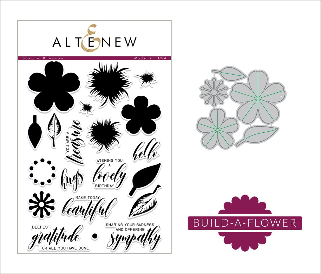 Liliths Scrapbooking Venture Altenew Build A Flower Sakura