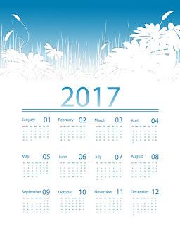 2017カレンダー無料テンプレート190