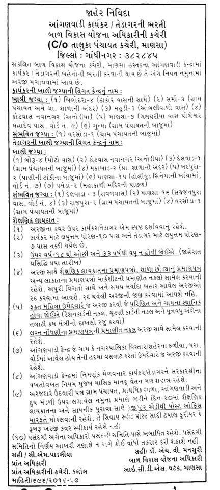 ICDS, Mansa Recruitment 2016