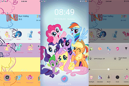Oppo Theme: Oppo My Little Pony Theme