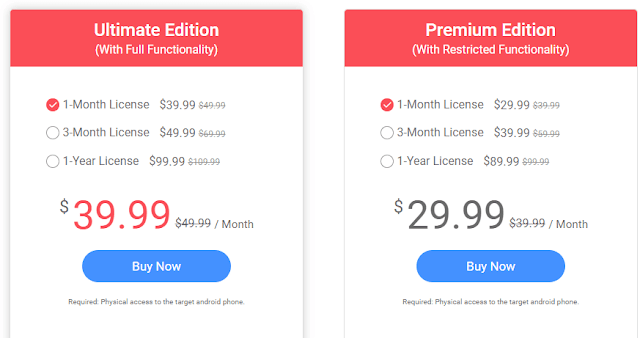 Pricing Plans for android