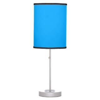 Aqua blue lamp