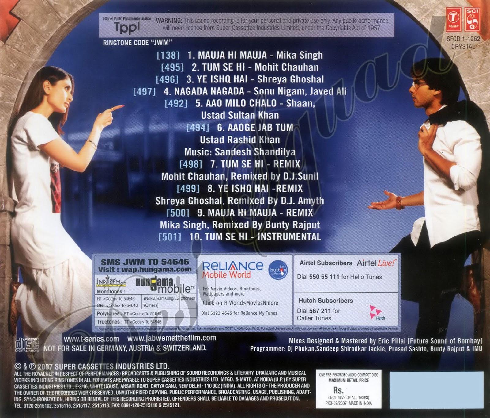 Mauja hi mauja mp3 song download jab we met mauja hi mauja song.