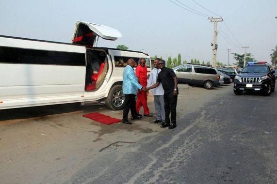Photos: Nigerian pastor Tom Samson steps out in limousine Hummer