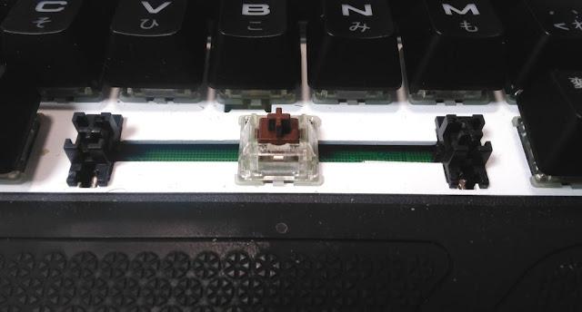 STRAFE RGBスペースキーを外した状態