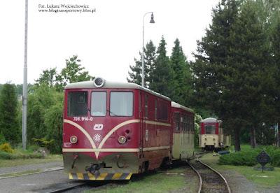 Osoblažka. Lokomotywa 705.914-0 z wagonem Btu na stacji Osoblaha