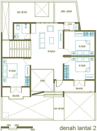 Desain Ventilasi Kamar Tidur Wall Ppx
