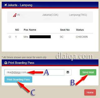 kirim boarding pass ke email atau cetak boarding pass