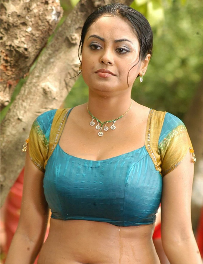 Meenakshi hot pics in wet saree