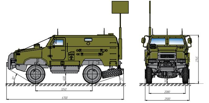 бронеавтомобіль Козак-2 КШМ