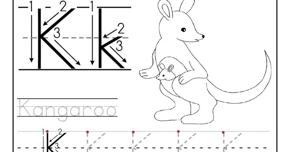 Free printable worksheet letter K for your child to learn