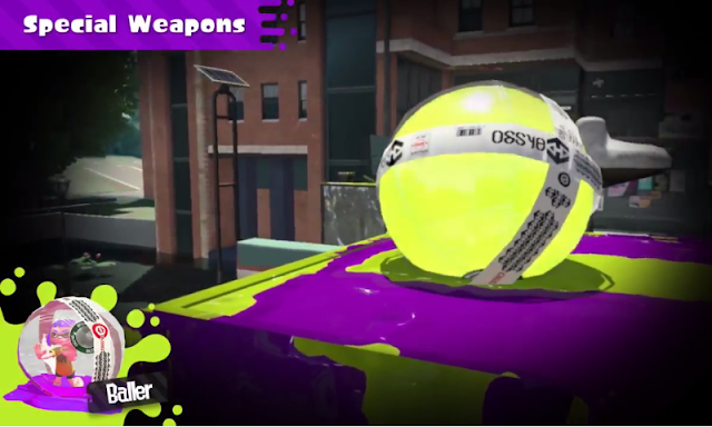 Splatoon 2 Baller Special Weapon explosion