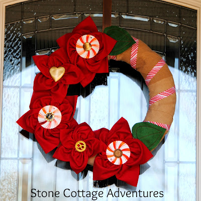 Poinsetta Wreath by Stone Cottage Adventures