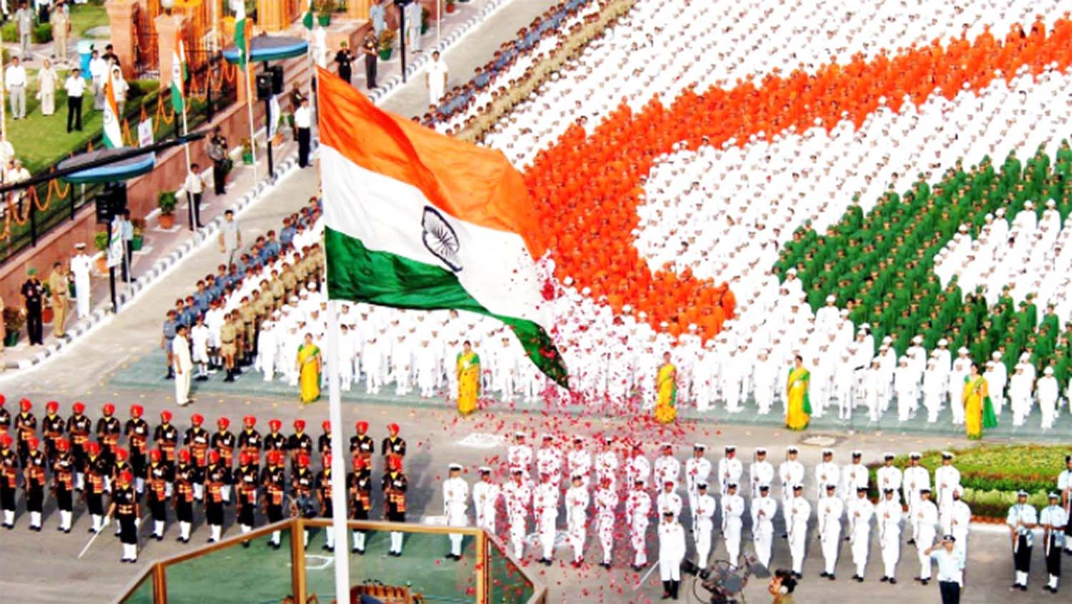 Celebration of republic day and flag hoisting