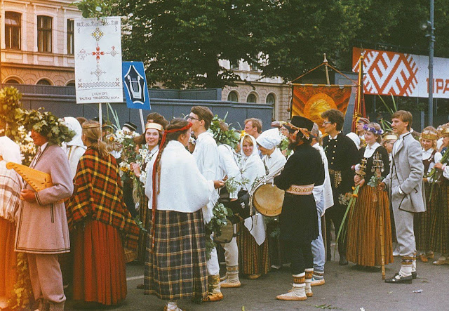 1985 год. Рига. Dziesmu un Deju svētki (фото из архива: Aivars Narvaišs)