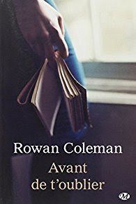 « Avant de t'oublier » de Rowan Coleman